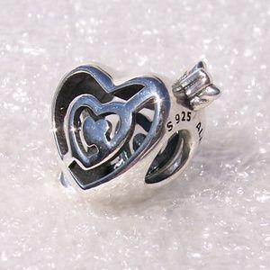 Pandora PATH TO LOVE Hearts Arrow Slider Charm